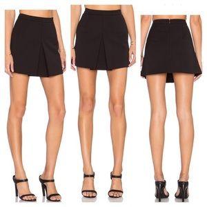 VINCE Inverted Pleat Black Mini Skirt